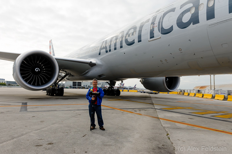 Alex in Miami International<br /> American Airlines Boeing 777