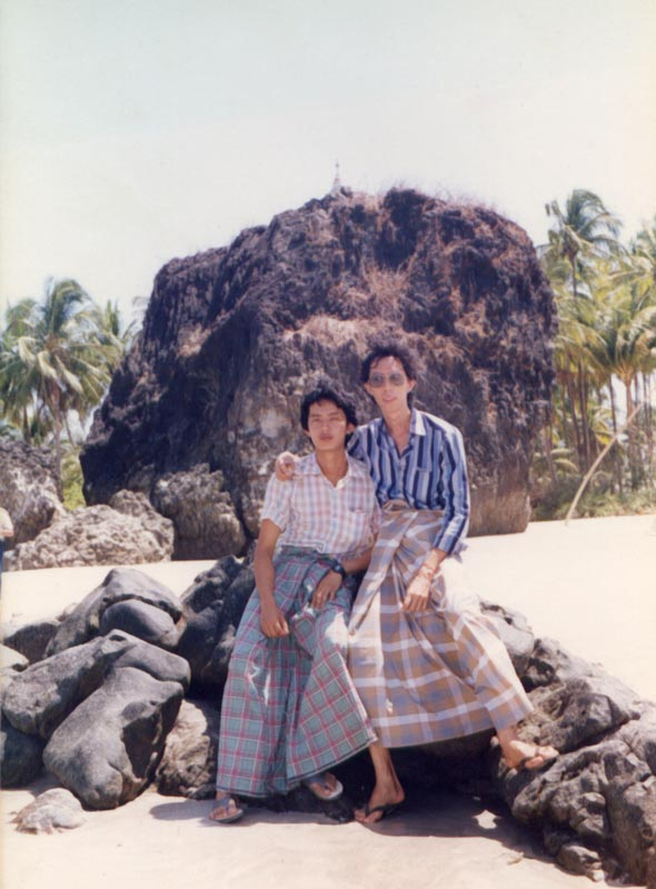 With Khin Tun at Nga Pa Li Beach