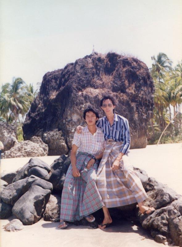 With Khin Tun at Nga Pa Li Beach