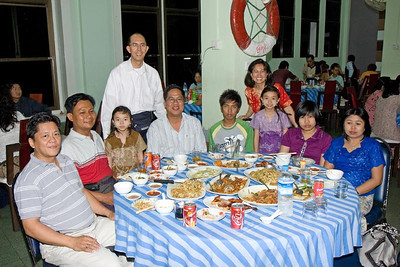 2009 visit. With Aung Swe, Ohn Myint and family.