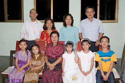 With Khin Tun's family.