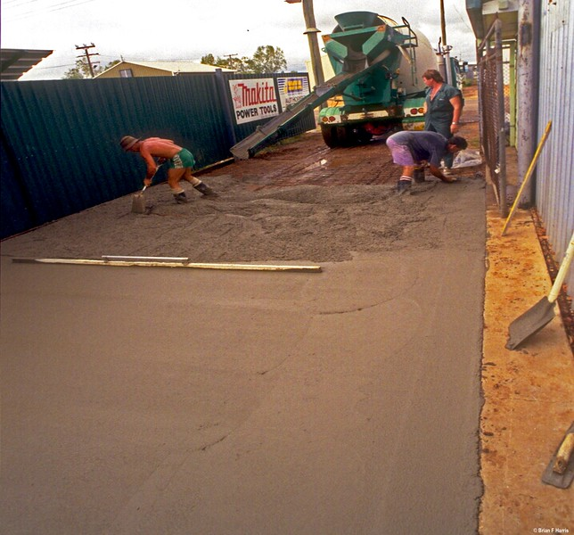 Thanks Wayne Busst for another load of concrete.