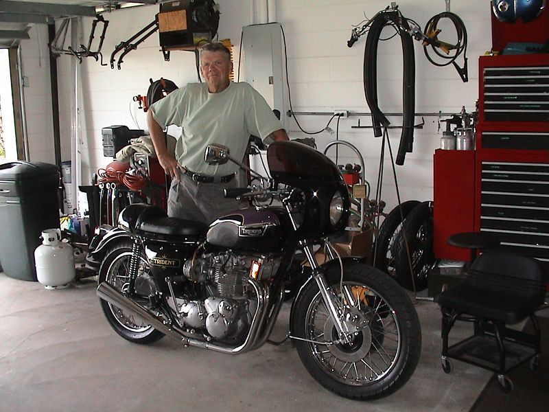 Bill and his restored triumph.