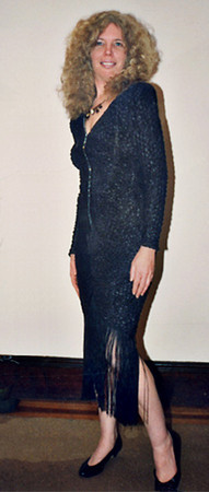 Now why is this photo of me taken nearly 20 years ago doing in my friends gallery? I'm just trying to get your attention. This is me in my once fancy evening dress after having my hair cut 24 inches and getting a perm -- and I'm unfortunately I'm not likely to look that way again!