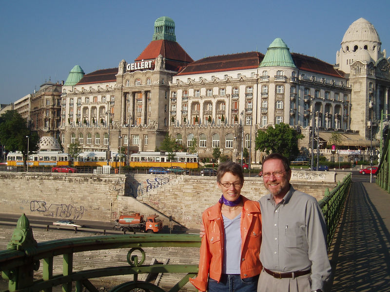Barbara and George on assignment in Vienna.