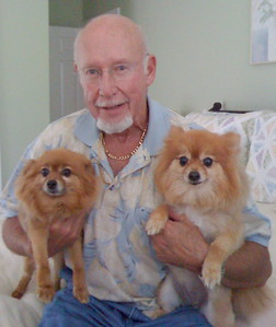 Bob Hovey with Harley and Rosie