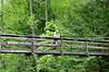 Mark Gunn on suspension bridge on Piney Trail (near Spring City, TN)