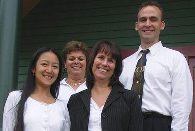 """Suzen ( my masseuse), Marie, Pam and Greg Bauer (my chiropractor) at Arlington Chiropractic. I'm creating their web site and since they're such wonderful, warm people I decided to include them in my friends gallery! See   <a href=""""http://www.arlingtonchiropractice.com"""">http://www.arlingtonchiropractice.com</a>"""