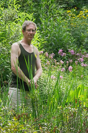 Rick in paradise (Garden in the Woods)