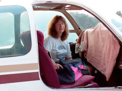 Cindy in her airplane