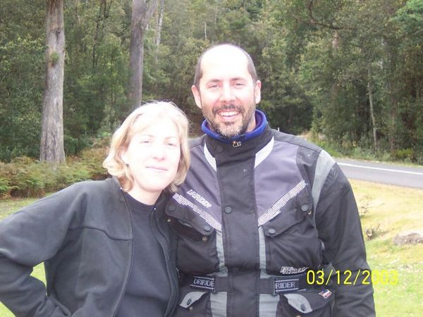 Liz and Mike in Tassie