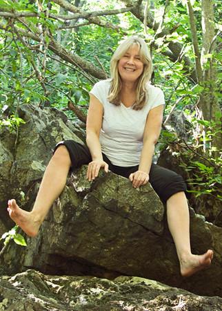 My friend Debbie Watkins at Beaver Brook