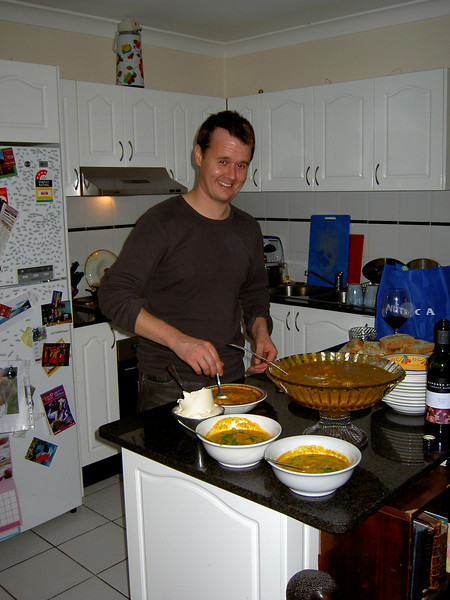 Nick and his awesome pumpkin soup