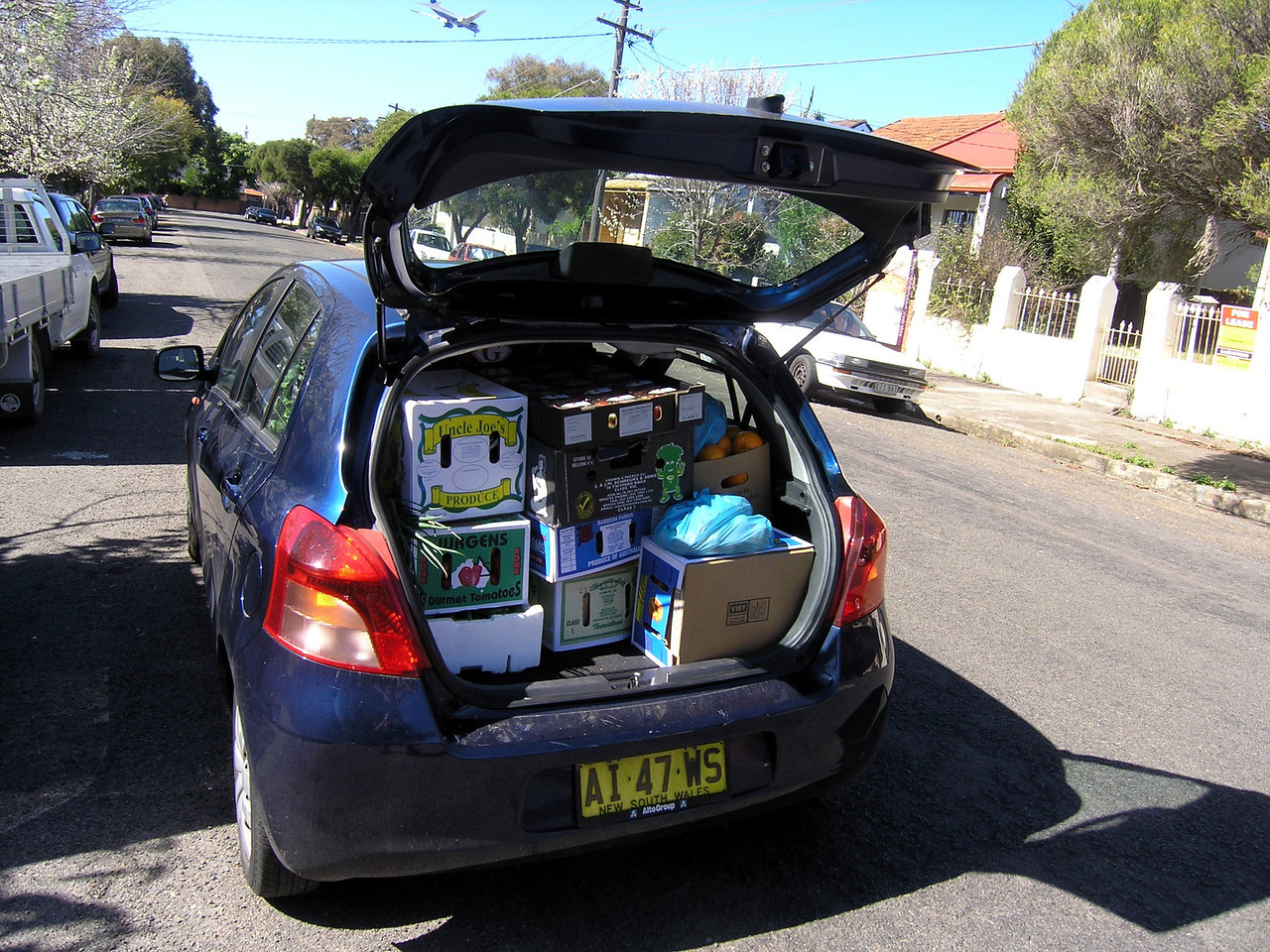 How much can you fit in a Yaris?