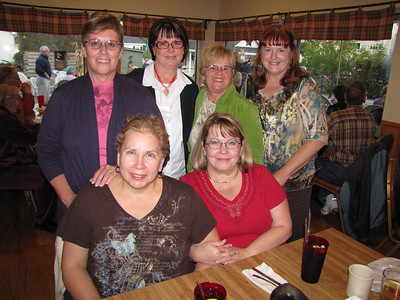 Standing: Judy, Patty, Carol and Pat. Seated: Betty and Debby