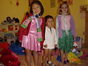 Abby, Dillon, and Catherine play dress up