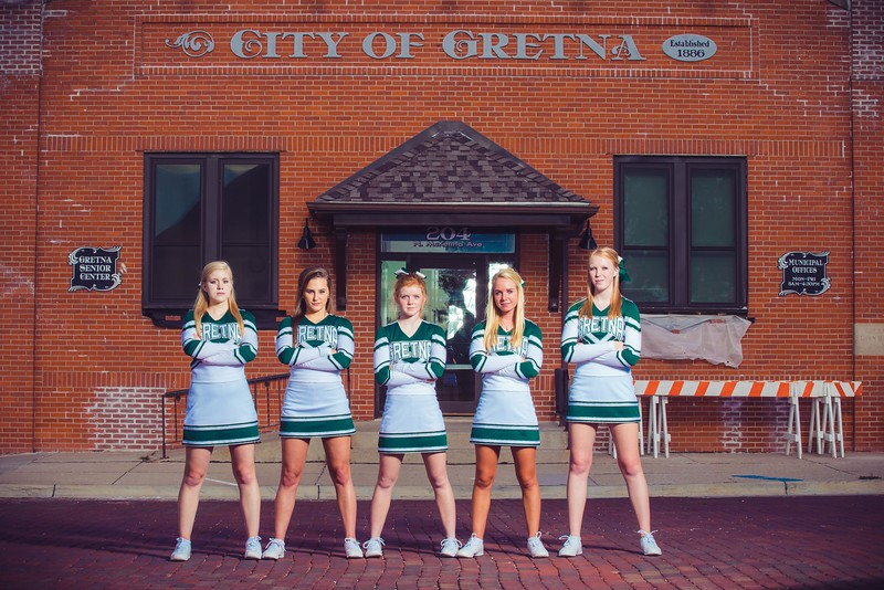 Gretna High School Cheer Squad 2016 Photo Session