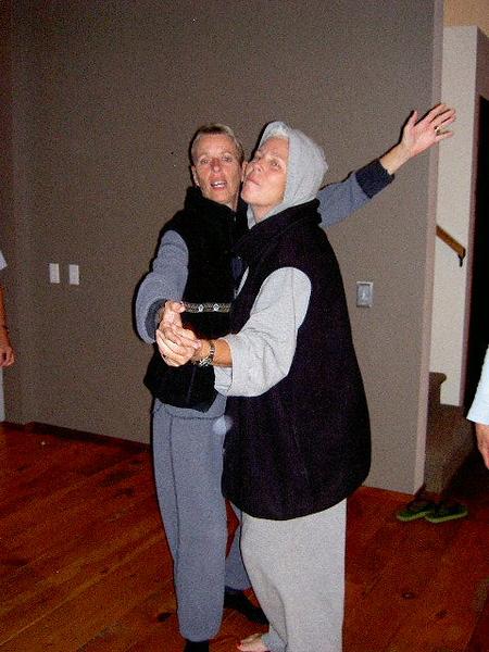 Karen Bean and Beth Fredericks.  Cross Village, MI 2003.