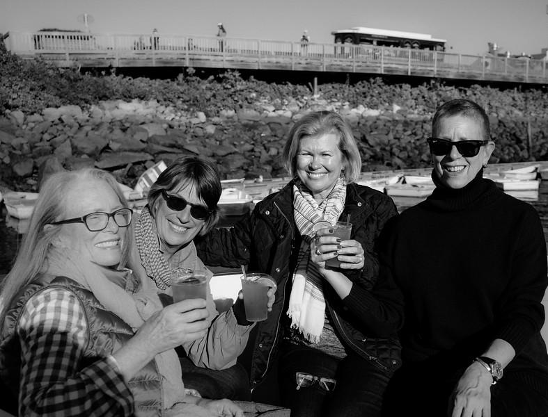 Mary Zabell, Sue Milling, Rena Gunn, Karen Bean.  Maine Coast, 2015.