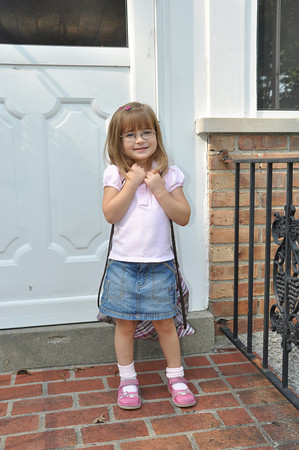 Gabriella's FIRST day at school