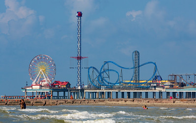 Next day at the beach.  Galveston's Pleasure Pier