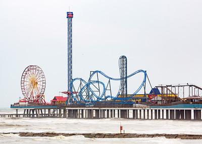 Amusement park pier