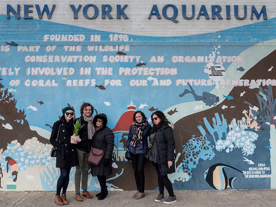 The site of the memorial: the NY Aquarium's Education Hall.