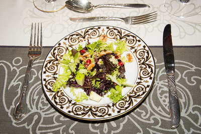 Salad with Pomegrante seeds