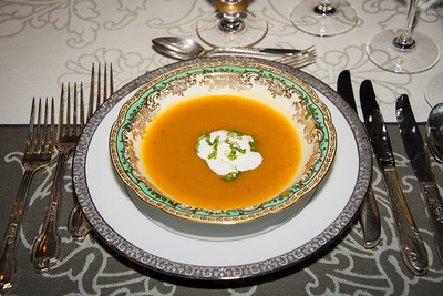 Roasted Squash Soup w Corriander