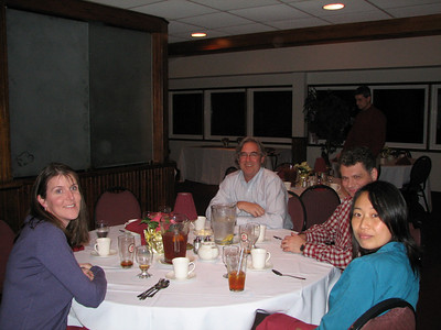 Catherine Ponticiello, Mike McCormick, Pat Conroy and Lucy Hu having fun at the party.
