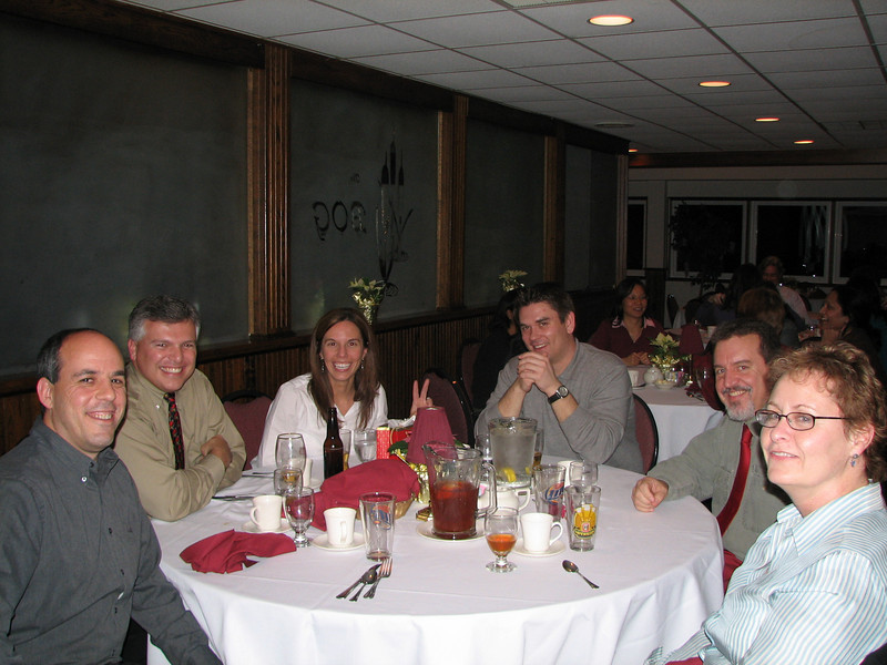 Steve Gotkin, Dean Ratti, Denise Clark, Marc Kozlowski, Mike Lyczak and Pat Leary having a blast.