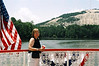 On Scarlett O'Hara Riverboat--  Stone Mountain beyond