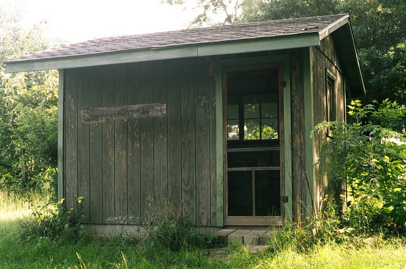 """Clarence's Shack"", where Clarence Jordan went to write, pray, & work-- Koinonia Farms"