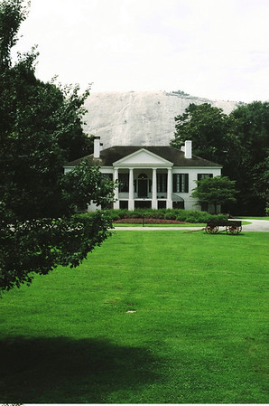 Antebellum Plantation House, with Stone Mountain behind