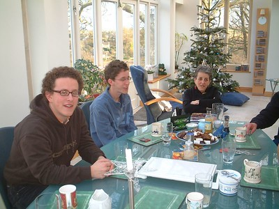 The Wright Family, Paul, Martin and Fanny on New Years Day, 2004