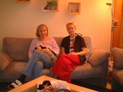 Sisters Birgit and Karin