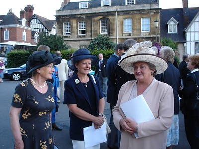 Shirley, Liz and Sheila at the thanksgiving service, Gloucester Cathedral, July 12th 2005