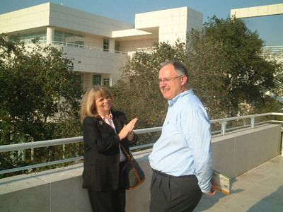 Mark with Mary, Getty Center Los Angeles