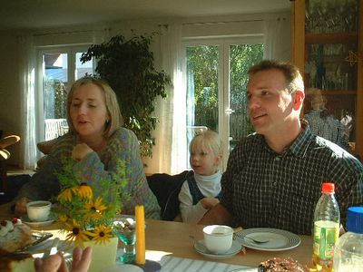 Birgit and Bernd, with Samira in the background