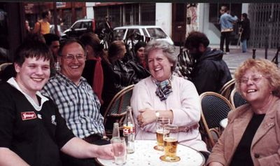 Having fun with Beverley in Paris, 2001
