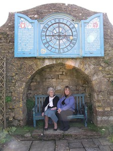 Mummy and Mary at Snowshill, April 2005