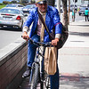 Sparkly cyclist in Laguna Beach