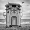 Lifeguard station on a gray afternoon
