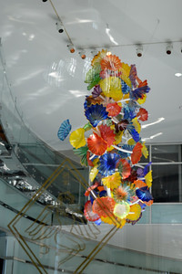 Chihuly in the foyer