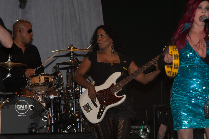 Tracy Wormworth playing Bass with the B-52s