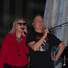 The B-52s Cindy Wilson and Fred Schneider.