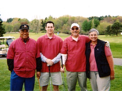 Coral (says Carolyn) Team - Paul B., Harold, Carolyn, Eddie - Tied for 1st place