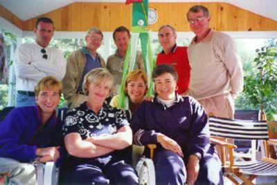 Front Row - Liz, Sue, Karen, Carolyn Back Row - John M, John J, Dick, Jack, Bill