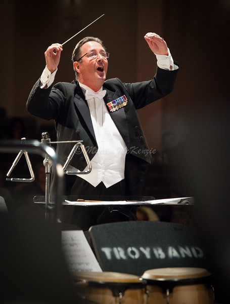Dr. Graham Owen Jones delighted in conducting the Troy University Symphony Band during their April 17, 2016 concert.