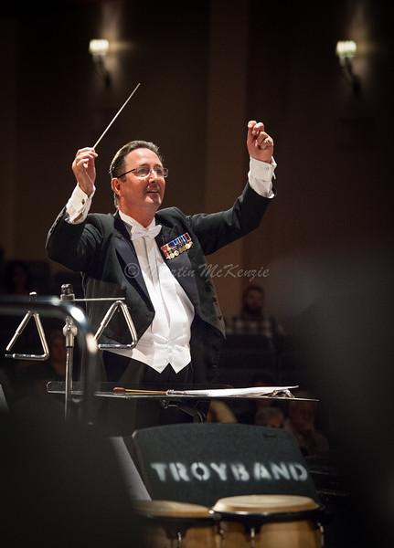 Dr. Graham Owen Jones  conducting the Troy University Symphony Band during their April 17, 2016 concert.